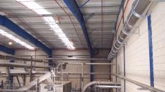 Impianto di aspirazione industriale - estrazione dell'aria - Spagna